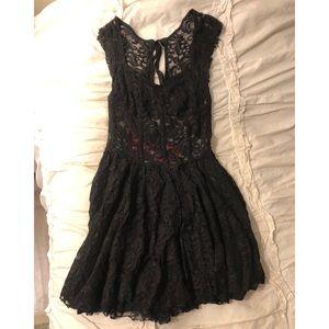 Black Lace Free People Dress